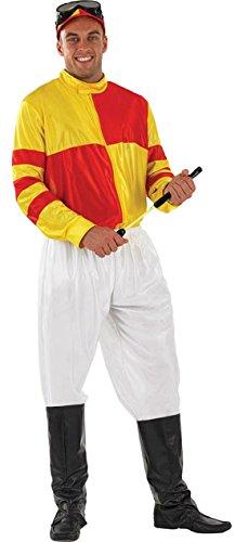 Halloweenia - Herren Karneval Kostüm Jockey Man , Gelb, Größe (Kostüme Jockey Disco)