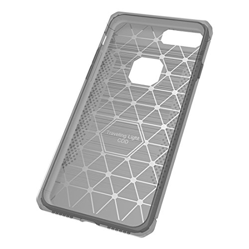 YAN Für iPhone 7 Plus Brushed Carbon Fiber Texture Shockproof TPU Schutzhülle ( Color : Red ) Silver