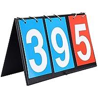 Flip Scoreboard Score Flip Board Tabellone segnapunti di Pallacanestro, 2/3/4 cifre Portable Flip Tabellone segnapunti di Sport segnapunti per Ping-Pong Pallacanestro Calcio Pallavolo(3 cifre)
