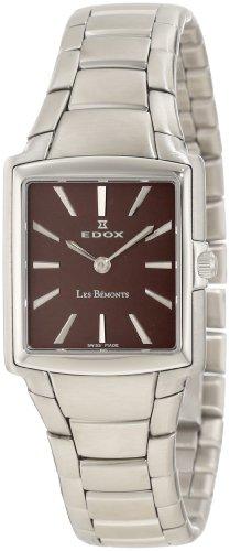 Edox Men's 28126 3 BRIN Les Bemonts Rectangular Ultra Slim Watch