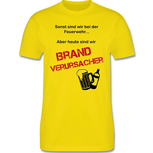 JGA Junggesellenabschied - Brandverursacher - Herren Premium T-Shirt Lemon Gelb