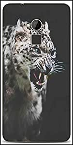 Snoogg Leopard Fury Designer Protective Back Case Cover For HTC One-Max
