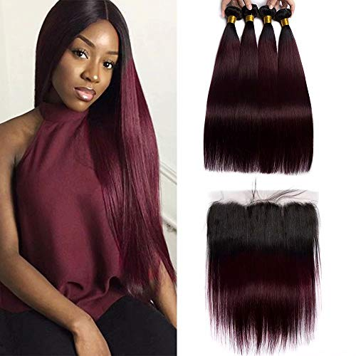 Human Hair Weaves Orderly Pre-colored Hair Bundles Straight Wave #1b Non-remy Peruvian Human Hair Excellent In Cushion Effect