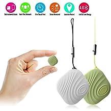 NUT 3 2pcs Mini Anti-perdida inteligente Bluetooth Tracker Inalámbrico Rastreador de llave Localizador Buscador TH445 (blanco+verde)