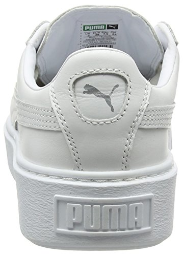 Metallico Basket Puma Sneaker Damen argento bianco Platform Weiß afazIwq5