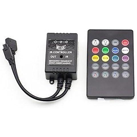 XMQC*20 Tasti musica IR Remote Controller per RGB striscia di luce LED (12V 3X2A)