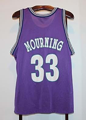 Maillot Trikot Jersey Nba Basket Basketball Alonzo Mourning Charlotte Hornets L