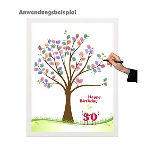 Herzl-Manufaktur 1art1 - Póster Wedding Tree Motivos: Libro de visitas, Juego de Fiesta, Huellas Dactilares, árbol, Boda, cumpleaños, Bautizo, confirmación, Juventud, etc.