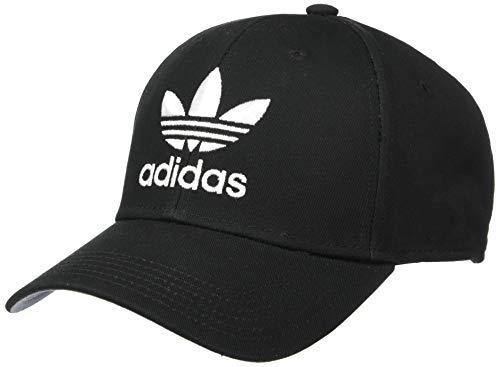 adidas Originals Herren Originals Trefoil Structured Precurve Mütze, schwarz/weiß, Einheitsgröße Adidas Originals Trefoil