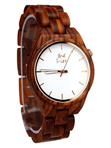 -Holzuhr--handgemachte-Armbanduhr-aus-Holz-35mm-rotes-Sandelholz-Damen-Herren-kostenloser-Versand-50-Tage-Geld-Zurck-12-Monate-Garantie