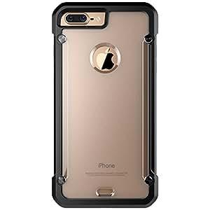 DUUNO iPhone 7 Plus Case, Transparent Case Cover TPU Bumper Crystal Clear, Soft, Shock-absorbing Anti-scratch, Ultra-slim (Black)