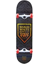 Shaun White Supply Co. Street Badge Complete Skateboard - Black. 31.5 x 8 Inch