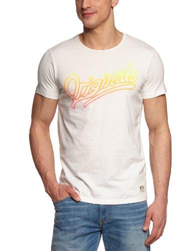 JACK & JONES Herren T-Shirt Slim Fit 12066565 Gradient Weiß (CLOUD DANCER)