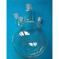 Gowe 5000ml, 4-necks ,24/29, fondo di vetro rotonda Flask, 5L, laboratorio di ebollizione nave, heavy Wall