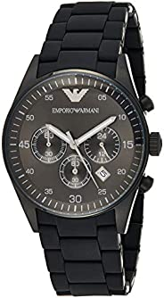 Emporio Armani Sportivo Men's Black Dial Stainless Steel Band Watch - AR