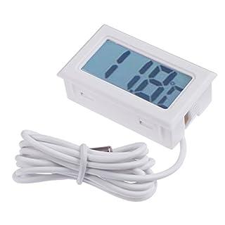 amazingdeal Digital Thermometer Elektronische Fisch Tank Luftfeuchtigkeit Hygrometer Meter Sensor weiß