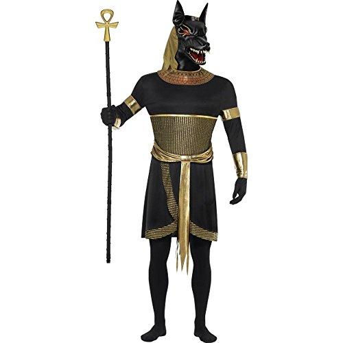 Herren Kostüm Ägypter Gott Anubis der Schakal Karneval Fasching (Kostüm Schakal Anubis)