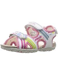 Geox Mädchen Jr Roxanne A Offene Sandalen mit Keilabsatz