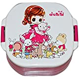 Baby Station Plastic Lunch Box Set (Pink)