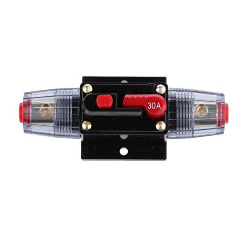 12V-24V Inline Auto eistungsschalte Manuellen Reset Schalter Car Audio Sicherung - 30a - High Current Car Audio
