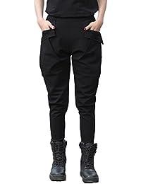 emansmoer Femme Coton Confort Casual Leisure Pantalon de harem Outdoor Militaire Armée Combat Tactique Sport Pantalon