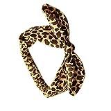 Pegcdu Baby-Kind-Leopard-Stirnband Kaninchen Häschen-Ohren Kopfbedeckung Leopard-Baby-elastische Haar-Band
