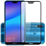 Huawei P20 Lite Exclusive Matte Finish Soft Back Case Cover Black+ 5D Tempered Glass (Combo Pack) by Canyon™