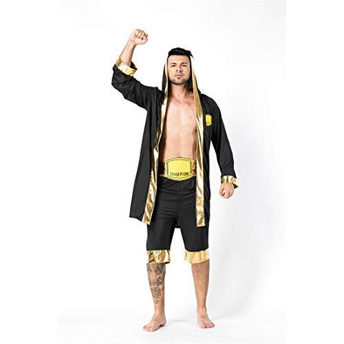 HOOLAZA Männer Erwachsene Boxen Kostüm Mit Kapuze Cosplay Dress up 3 - Mann Mit Box Kostüm