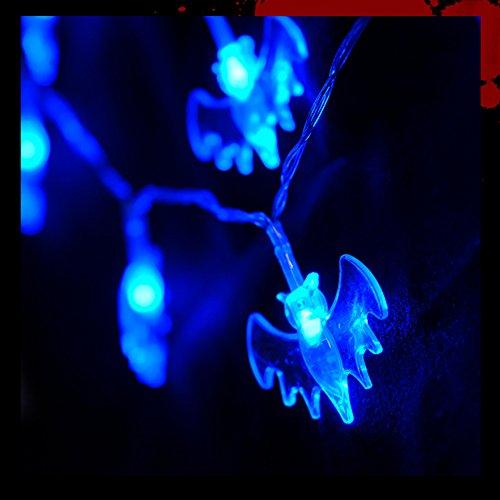 2m 20Leds Bate Cadena Luces, Guirnalda de Cadena de iluminación LED Funciona con Pilas para Navidad casa Fiesta Dormitorio para decoración de Halloween