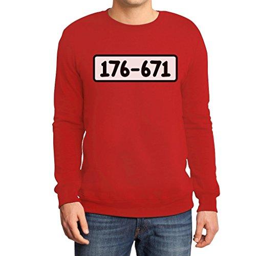 Zahlen Kostüm Gefängnis - Panzerknacker Shirt Kostüm Karneval Fasching Sweatshirt XX-Large Rot