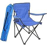 EFR CRT BL Çantalı Katlanır Plaj Piknik Kamp Sandalyesi Unisex, Mavi, Tek Beden