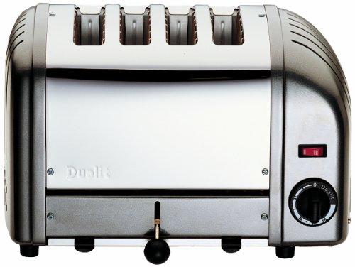 Dualit 40361 Vario Toaster 4 Scheiben, metallic anthrazit (Toaster Slice Dualit 4)