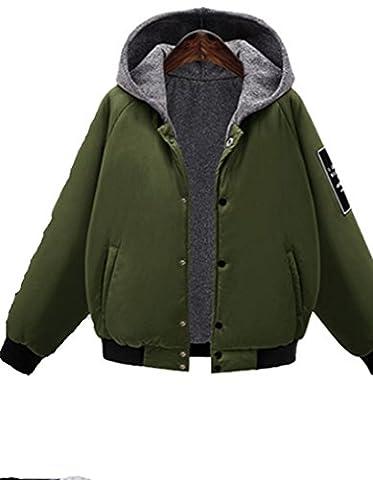 Ksweet Winterjacken Damen Warm Bomberjacke mit Kapuze Damen Mädchen Winterjacke Herbst Winter Trenchcoat Outerwear