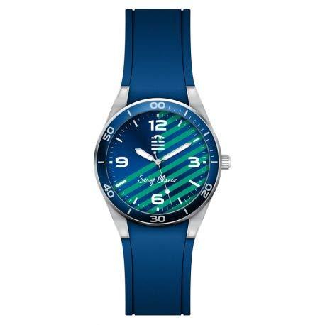 Serge Blanco Quinze Herren-Armbanduhr, Gummi, Blau