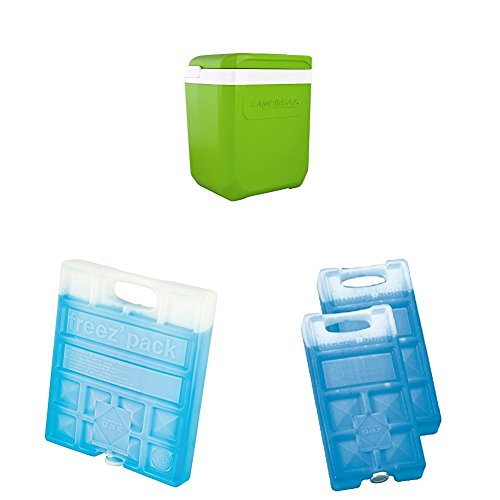 Campingaz Kühlbox Icetime Plus 26 L in limettengrün & Campingaz Freezepack, 1+2 Stück