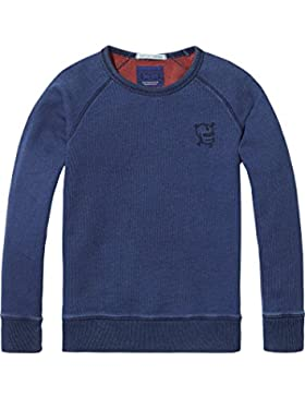 Scotch & Soda Crewneck y/D Raglan Sweat, Sudadera para Niños