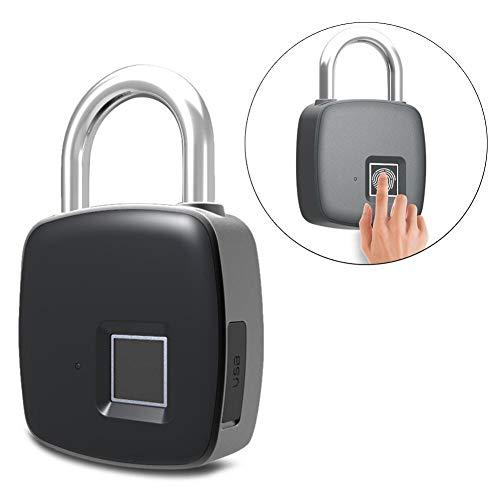iBellete Keyless Lock Cadenas d&;Empreintes digitales IP65 étanche Serrure d&;Empreinte Digitale Intelligente pour Sac de Golf, Valise, casier de Gym, Armoire, tiroir, Porte et Plus