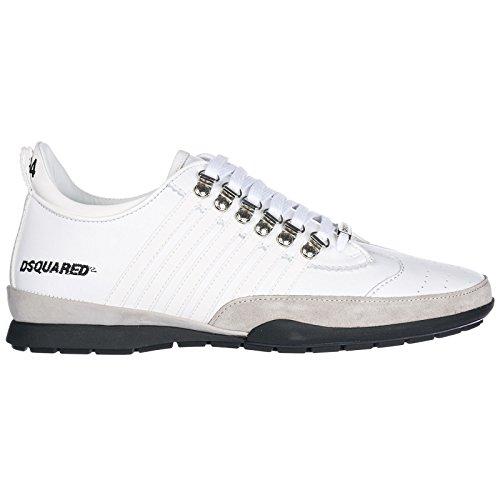 Dsquared2 Herrenschuhe Herren Leder Schuhe Sneakers 251 Weiß EU 43 SNM0131 11570001 M1048