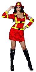 Idea Regalo - Ridere e coriandoli - Ficpol011 - per Costumi Adulti - Sexy Pompiere Deluxe Costume - Donne - Taglia L