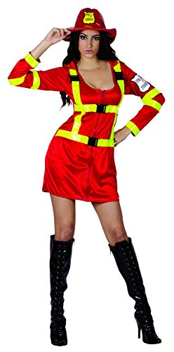 Ridere e coriandoli - Fiapol011 - per Costumi Adulti - Sexy Pompiere Deluxe Costume - Donna - Taglia S