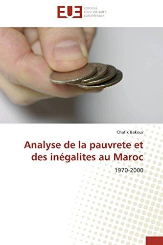 Analyse de la pauvrete et des inégalite...