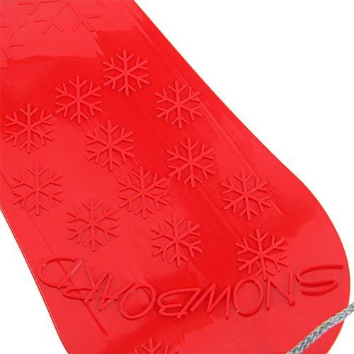 Kinder Snowboard Schneegleiter Kunststoff Zugschnur Seil Riesenrutscher (gelb) -