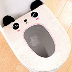 timorr calentador de asiento de inodoro cover cute cartoon animal Closestool para baño lavable cojín