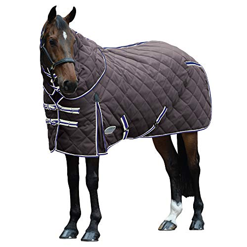 Weatherbeeta ComFiTec 1000D Diamond Quilt Heavy Stable Rug 6ft9 Charcoal Blue White