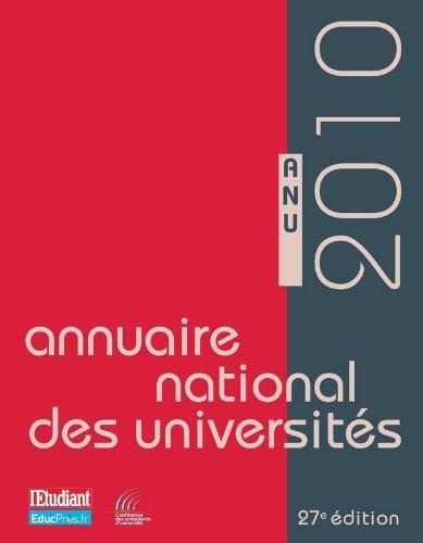 ANNUAIRE NATIONAL DES UNIVERSITES