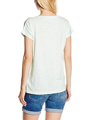 ARQUEONAUTAS Damen T-Shirt T-Shirt in Glänzender Metallic-Optik Grau ( Glacier