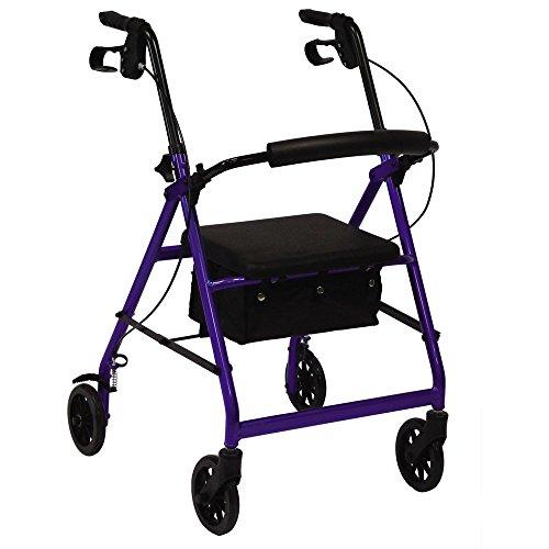 Andador rollator plegable con ruedas y frenos especial artritis