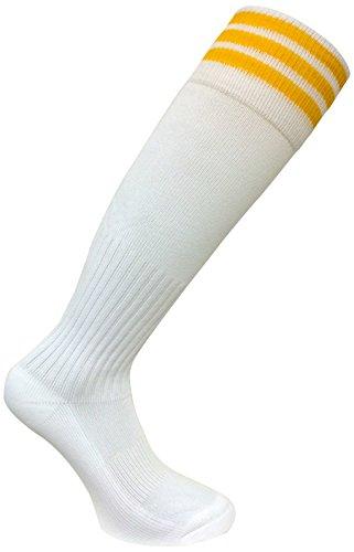 Pro Stripe SOC1523 Socken, Weiß/Gold, Größe M