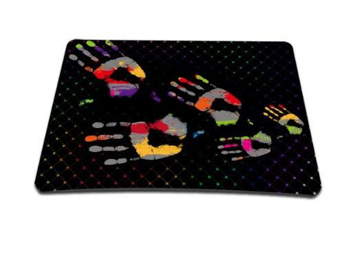 Luxburg® Design Mousepad Mausunterlage Mauspad, Motiv: Handabdrücke (Handabdrücke Teppich)