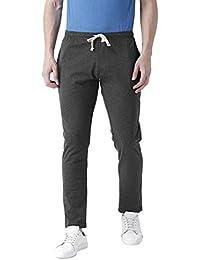 Club York Men Charcoal Cotton Blended Track Pant
